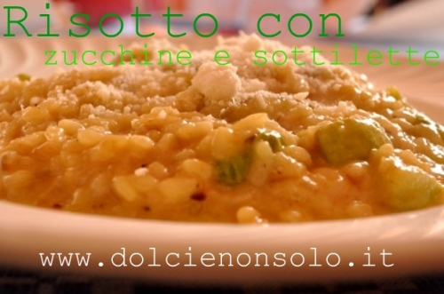 risotto con zucchine e sottilette