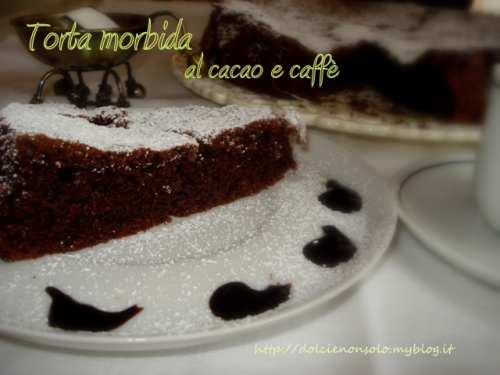 torta morbida al cacao e caffè