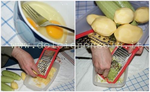 grattugiata di zucchine e patate