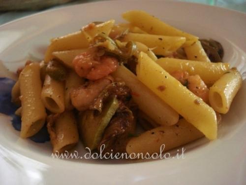 Pasta con zucchine e gamberetti-1.JPG
