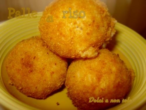 palle di riso con provola