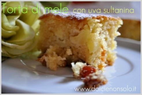 come si prepara la torta di mele,ingredienti per la torta di mele,torta di mele semplice,dolci con uva sultanina,autunno,dolci per la prima colazione,dolci con grappa