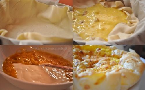 torta di pasta sfoglia e gamberi