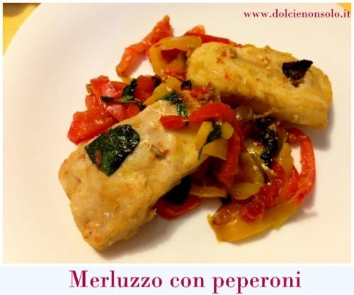 Fiori di merluzzo con peperoni