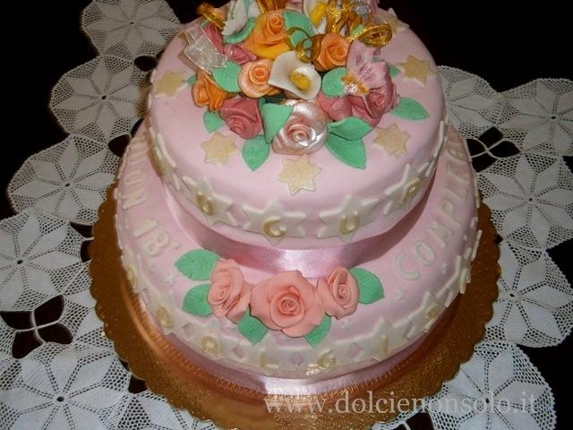 Le torte di mariolina in pasta di zucchero e non for Torte di compleanno a due piani semplici