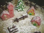 torta paesaggio invernale