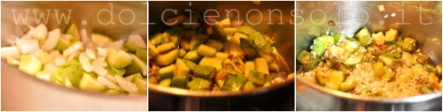 zucchine in preparazione
