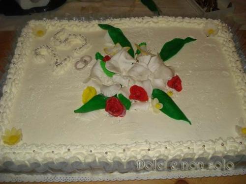 Torta Anniversario 25 Anni D Amore Dolci E Non Solo