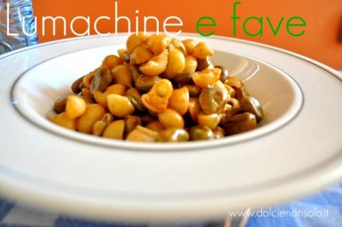 Lumachine e fave con paprica piccante