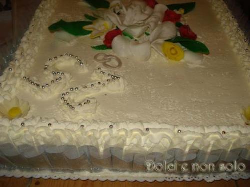 Torta anniversario 25 anni d 39 amore dolci e non solo for Decorazione torte per 50 anni di matrimonio