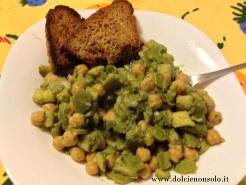 Zuppa di zucchine e ceci