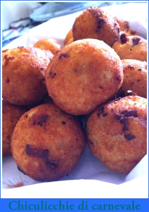 Chiculicchie di carnevale ricetta tipica lucana